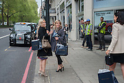 NAN RICHARDS ON RIGHT, The Foreign Sisters lunch sponsored by Avakian in aid of Cancer Research UK. The Dorchester. 15 May 2012