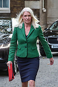 Conservative Party Chairwoman Amanda Milling arrives in 10 Downing Street, London, ahead of a Cabinet meeting at the Foreign and Commonwealth Office on Wednesday, Sept 30, 2020.  On Wednesday MPs will be asked to renew emergency powers, originally passed in March, to tackle the pandemic. (VXP Photo/ Vudi Xhymshiti)