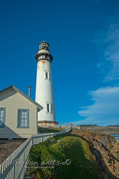 Pigeon Point Light House, now a state park, used to warn sailors of rocks and shoals off the Pacific Coast north of Santa Cruz, California.
