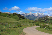 Montana Backroad leading into the Scapegoat Wilderness.