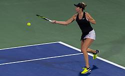 February 21, 2019 - Dubai, ARAB EMIRATES - Belinda Bencic of Switzerland in action during her quarter-final match at the 2019 Dubai Duty Free Tennis Championships WTA Premier 5 tennis tournament (Credit Image: © AFP7 via ZUMA Wire)