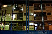 Cheap appartment building in Kamagasaki as seen through a local comunity center's facility.