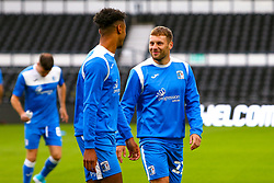 Barrow players warm up - Mandatory by-line: Ryan Crockett/JMP - 05/09/2020 - FOOTBALL - Pride Park Stadium - Derby, England - Derby County v Barrow - Carabao Cup