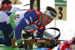 COUPE DU MONDE DE BIATHLON 2010 ANTERSELVA..© Pierre Teyssot / Sportida.com.. MARIC Janez (SLO) during the 12.5km men pursuit of the stage of the e.on Ruhrgas IBU Biathlon World Cup on 24/01/2010 , 2010 in Anterselva - Antholz,  Italy.