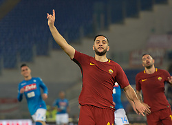 October 14, 2017 - Rome, Italy - Kostas Manolas during the Italian Serie A football match between A.S. Roma and S.S.C. Napoli at the Olympic Stadium in Rome, on october 14, 2017. (Credit Image: © Silvia Lore/NurPhoto via ZUMA Press)