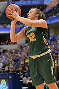 April 4, 2016; Indianapolis, Ind.; Jenna Buchanan lines up a shot in the NCAA Division II Women's Basketball National Championship game at Bankers Life Fieldhouse between UAA and Lubbock Christian. The Seawolves lost to the Lady Chaps 78-73.
