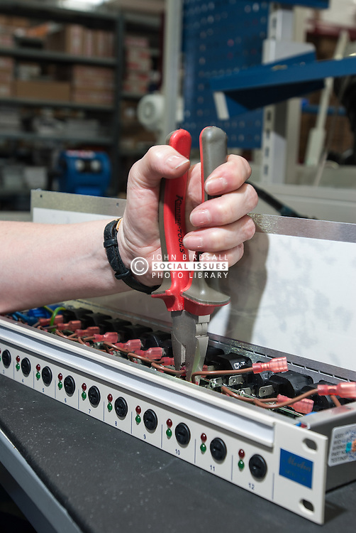 Worker in electronics factory