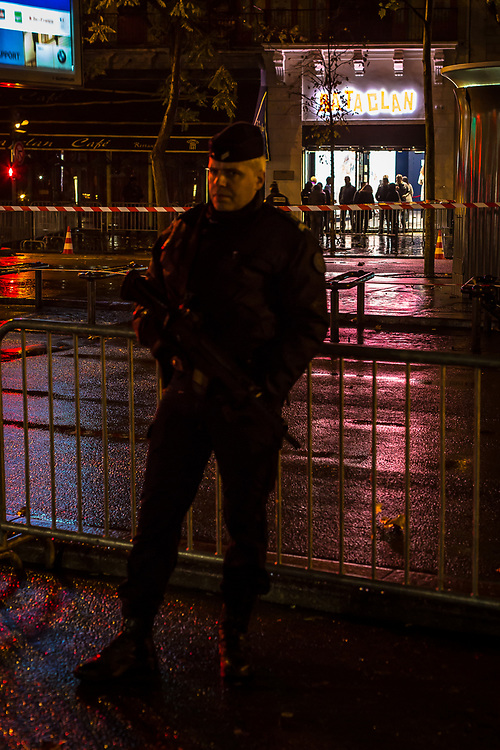 Le Bataclan Concert Hall  hosts pop star Sing, under heavy security,  one year after the terrorist attacks.  November 12, 2016.  Paris, France.