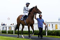 Grandfather Tom ridden by Ray Dawson trained by Robert Cowell - Mandatory by-line: Robbie Stephenson/JMP - 19/08/2020 - HORSE RACING - Bath Racecourse - Bath, England - Bath Races