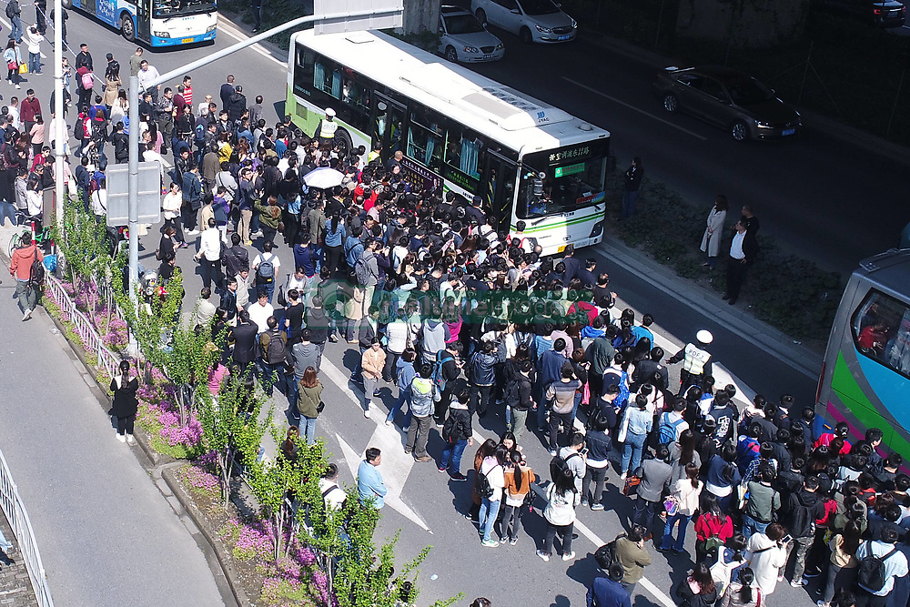 April 25, 2018 - Shanghai, China - Part of the Subway Line 2 shut down in the morning and lasted for 4 hours, causing many passengers stranded at the subway station in Shanghai, April 25th, 2018. (Credit Image: © SIPA Asia via ZUMA Wire)