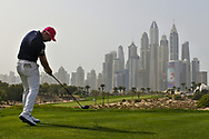 Matt Wallace (ENG) on the 8th during Round 2 of the Omega Dubai Desert Classic, Emirates Golf Club, Dubai,  United Arab Emirates. 25/01/2019<br /> Picture: Golffile   Thos Caffrey<br /> <br /> <br /> All photo usage must carry mandatory copyright credit (© Golffile   Thos Caffrey)