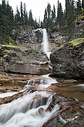 Virginia Falls waterfall in Glacier National Park, Montana.