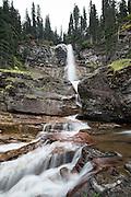Virginia Falls waterfall in Glacier National Park, Montana.