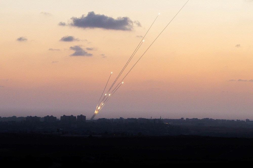 Rockets fired from the northern Gaza Strio to Israel