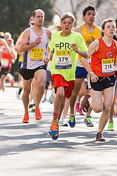 Boston Marathon: BAA 5K road race, 379, young runner
