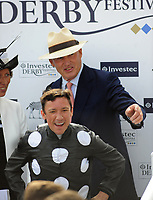 Flat Horse Racing - 2019 Investec Derby Festival - Friday, Day One (Ladies Day)<br /> <br /> Frankie Dettori on Anapurna and trainer John Gosden, in the 16.30 investec Oaks (Group 1), at Epsom Racecourse.<br /> <br /> COLORSPORT/ANDREW COWIE