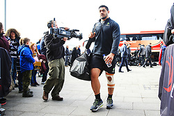 Alafoti Faosiliva of Worcester Warriors arrives at the AJ Bell Stadium - Mandatory by-line: Matt McNulty/JMP - 24/03/2018 - RUGBY - AJ Bell Stadium - Manchester, England - Sale Sharks v Worcester Warriors - Aviva Premiership