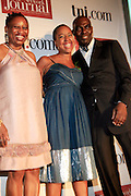 Rosalind Mclymont, Lesley Pinckney and Aziz Gueye Adetimirin at The Network Journal 40 under Forty 2008 Achievement Awards held at the Crowne Plaza Hotel on June 12, 2008