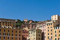Colourful architecture, Camogli, Liguria, Italy