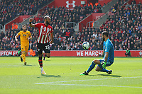 Football - 2018 / 2019 Premier League - Southampton vs. Wolverhampton Wanderers<br /> <br /> Southampton's Nathan Redmond lifts the ball over Rui Patricio of Wolverhampton Wanderers to score his and Saints second at St Mary's Stadium Southampton<br /> <br /> COLORSPORT/SHAUN BOGGUST