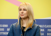 Director Kitty Green at the press conference for the film The Assistant at the 70th Berlinale International Film Festival, on Sunday 23rd February 2020, Hotel Grand Hyatt, Berlin, Germany. Photo credit: Doreen Kennedy