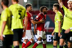 Kasey Palmer of Bristol City celebrates scoring a goal which is then disallowed - Rogan/JMP - 16/09/2020 - Ashton Gate Stadium - Bristol, England - Bristol City v Northampton Town - Carabao Cup Second Round.