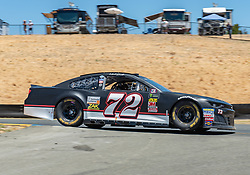 June 22, 2018 - Sonoma, CA, U.S. - SONOMA, CA - JUNE 22:  Cole Whitt, driving the #(72) Chevrolet for Tristar Motorsports flys over turn 8 on Friday, June 22, 2018 at the Toyota/Save Mart 350 Practice day at Sonoma Raceway, Sonoma, CA (Photo by Douglas Stringer/Icon Sportswire) (Credit Image: © Douglas Stringer/Icon SMI via ZUMA Press)