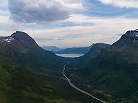 Europavei 8 ved grensen mellom Balsfjord kommune og Tromsø kommune.