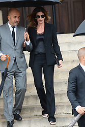 Cindy Crawford leaving the funeral service for late photographer Peter Lindbergh held at Saint Sulpice church in Paris, France on September 24, 2019. Photo by ABACAPRESS.COM