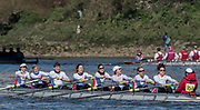 Mortlake/Chiswick, GREATER LONDON. United Kingdom. Canottieri Padova, Italy (IT) W.MasB.8+, competing in the  2017 Vesta Veterans Head of the River Race, The Championship Course, Putney to Mortlake on the River Thames.<br /> <br /> <br /> Sunday  26/03/2017<br /> <br /> [Mandatory Credit; Peter SPURRIER/Intersport Images]