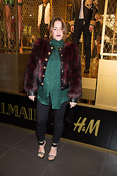 JAIME WINSTONE at a party to celebrate the launch of the Balmain H&M collection held at H&M Regent Street, London on 4th November 2015.