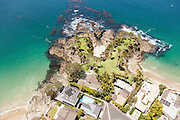 Aerial of Crescent Bay and Shaws Cove in Laguna Beach California