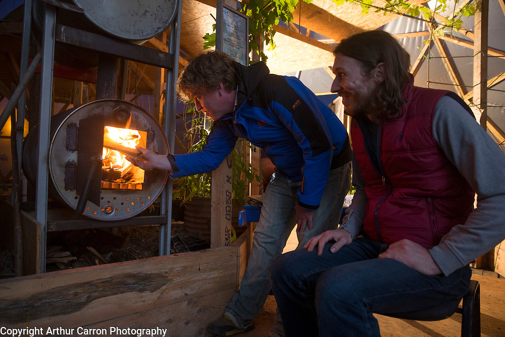 6/9/15 Niall O'Brien (right) and Jamie Roche at the Grow Dome Project on Ruben street in Rialto. Picture:Arthur Carron