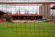 Jimmy Seed Stand at Charlton Athletic ground, The Valley during the EFL Sky Bet League 1 match between Charlton Athletic and AFC Wimbledon at The Valley, London, England on 12 December 2020.