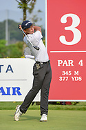 Jin-Bo HA (KOR) watches his tee shot on 3 during Rd 3 of the Asia-Pacific Amateur Championship, Sentosa Golf Club, Singapore. 10/6/2018.<br /> Picture: Golffile   Ken Murray<br /> <br /> <br /> All photo usage must carry mandatory copyright credit (© Golffile   Ken Murray)