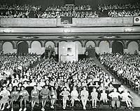1954 Audience inside Warner Bros. Theater
