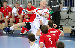 Karol Bielecki (8) of Poland during 21st Men's World Handball Championship 2009 Bronze medal match between National teams of Poland and Denmark, on February 1, 2009, in Arena Zagreb, Zagreb, Croatia.  (Photo by Vid Ponikvar / Sportida)