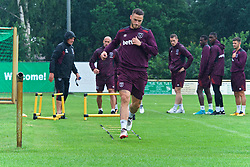 25.07.2017, Trainingsplatz TuS Bothel, Bothel, GER, Trainingslager, West Ham United, im Bild Marco Arnautovic beim Warmmachen // during a trainingsession at the trainingscamp of the English Premier League Football Club West Ham United at the Trainingsplatz TuS Bothel in Bothel, Germany on 2017/07/25. EXPA Pictures © 2017, PhotoCredit: EXPA/ Andreas Gumz<br /> <br /> *****ATTENTION - OUT of GER*****