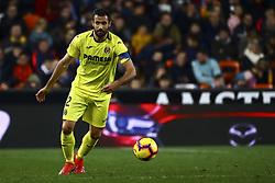 January 26, 2019 - Valencia, Spain - Mario Gaspar of Villarreal CF during  spanish La Liga match between Valencia CF vs Villarreal CF at Mestalla Stadium on Jaunary  26, 2019. (Credit Image: © Jose Miguel Fernandez/NurPhoto via ZUMA Press)