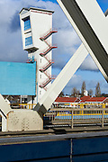 Stormvloedkering de Hollandse IJssel, of ook  de Algerakering, een stuw in de Hollandse IJssel . Het oudste onderdeel van de Deltawerken - Storm surge barrier the Hollandse IJssel or alo called the Algerabarrier in the river the Hollandse IJssel. It's the oldest barrier of the Delta works.