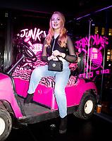 Victoria Clay at the Launch of the  Junkyard Golf Club Worship Street   London 5th dec 2019 photo by Brian Jordan