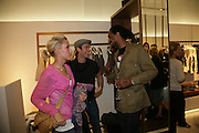 CHARLOTTE NOBLE, SEAN BROSNAN AND TIM WADE Gas new concept Flagship store opening. Duke of York Sq. London. 9 May 2007.  -DO NOT ARCHIVE-© Copyright Photograph by Dafydd Jones. 248 Clapham Rd. London SW9 0PZ. Tel 0207 820 0771. www.dafjones.com.