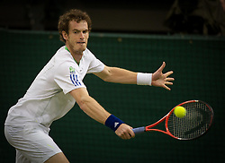 24.06.2011, Wimbledon, London, GBR, Wimbledon Tennis Championships, im Bild Andy Murray (GBR) in action during the Gentlemen's Singles 3rd Round match on day five of the Wimbledon Lawn Tennis Championships at the All England Lawn Tennis and Croquet Club, EXPA Pictures © 2011, PhotoCredit: EXPA/ Propaganda/ *** ATTENTION *** UK OUT!