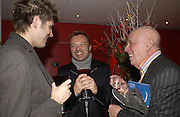 """KRISTIAN SIEBER, GRAHAM NORTON AND RICHARD WILSON, , World Premiere of the theatrical production of """"Edward Scissorhands"""" at Sadler's Wells Theatre in London. 30 November 2005. ONE TIME USE ONLY - DO NOT ARCHIVE  © Copyright Photograph by Dafydd Jones 66 Stockwell Park Rd. London SW9 0DA Tel 020 7733 0108 www.dafjones.com"""