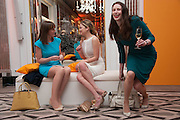 LOUISA PEACOCK; KATHRYN PARSONS; ( WINNER OF THE NEW GENERATION AWARD ) AMBER MAXIM;  The Veuve Clicquot Business Woman Of The Year Award, celebrating women's excellence in business and commitment to sustainability. Claridge's, Brook Street, London, 22 April 2013