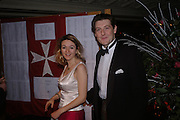 Miss Nicola turner Inman and the hon James Curzon. White Knights Ball, Grosvenor House Hotel 7 January 2005. ONE TIME USE ONLY - DO NOT ARCHIVE  © Copyright Photograph by Dafydd Jones 66 Stockwell Park Rd. London SW9 0DA Tel 020 7733 0108 www.dafjones.com