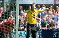 HUIZEN - Xander Damen bij de eerste play off wedstrijd voor promotie naar de hoofdklasse , Huizen-Nijmegen (3-2) COPYRIGHT KOEN SUYK