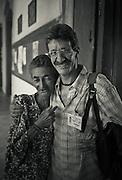 Photo of guide extraordinaire: Francois Duc and his mentor. Salvador da Bahia, Brazil