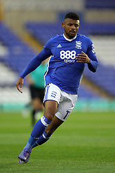 """Birmingham City's Isaac Vassell during the Carabao Cup, Second Round match at St Andrew's, Birmingham. PRESS ASSOCIATION Photo. Picture date: Tuesday August 22, 2017. See PA story SOCCER Birmingham. Photo credit should read: David Davies/PA Wire. RESTRICTIONS: EDITORIAL USE ONLY No use with unauthorised audio, video, data, fixture lists, club/league logos or """"live"""" services. Online in-match use limited to 75 images, no video emulation. No use in betting, games or single club/league/player publications."""
