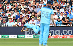 England's Chris Woakes catches out Pakistan's Imam-ul-Haq (not pictured) with the crowd during the ICC Cricket World Cup group stage match at Trent Bridge, Nottingham.